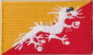 Bhutan Embroidered Flag Patch, style 04